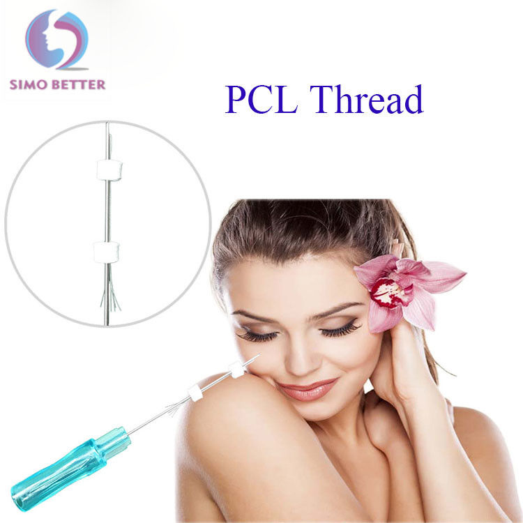 Absorbable PCL Thread Lift Mesotherapy Needles Safety For Face Lifting