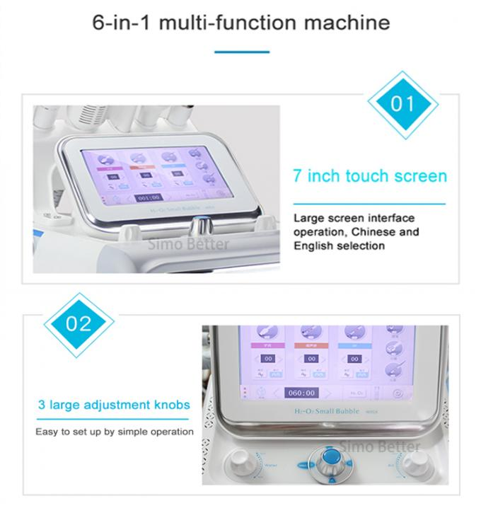 6 In 1 Small Bubble Oxygen Therapy Facial Machine For Water Dermabrasion